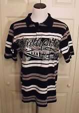 Authentic Collection South Pole Men Polo Shirt Black Silver Limited Edition (M)