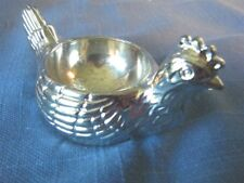 Silverplate Chicken Egg Cup Soft Boiled Egg Hen Cup Holder Unique