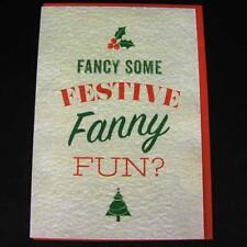 Tarjeta de Navidad saludos novedad Rude Divertido Broma Humor Navidad Festivo FA ** y