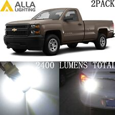 Alla Lighting Turn Signal Light White LED Blinker Lamp Bulbs for Chevy Silverado