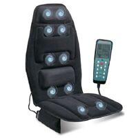 Relaxzen Massage Seat Memory Foam Lumbar Support Cushion Heated Car Back Relief