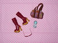 Mattel MY SCENE BARBIE DOLL Rare FASHION ACCESSORY LOT Shoes Purse Compact #1