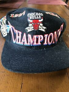 NWT -1997 Chicago Bulls Locker Room NBA Champions Hat Loco Athletic
