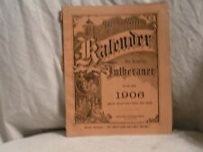 1906 GERMAN KALENDAR BOOKLET