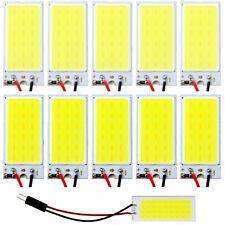 10X White COB 18 LED Plate Car Interior Dome Light Bulb T10 Festoon 12V Lights