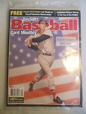 2002 Beckett Baseball Card Monthly magazine Ted Williams Boston Red Sox #210 sea