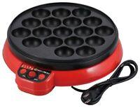 Japanese TAKOYAKI Grill pan maker cooking plate stove machine food recipe Tako