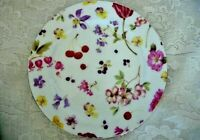 Beautiful Collectible Cherries/Flowers/Butterfly Chintz Ceramic Plate