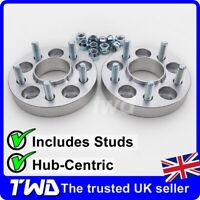 25MM HUB-CENTRIC ALLOY WHEEL SPACERS FOR FORD 5X108 PCD / 63.4MM BORE + NUT -2LX