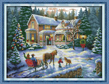 Joy Sunday Christmas Counted Cross Stitch Kit 14CT 22in * 17in Embroidery Fabric