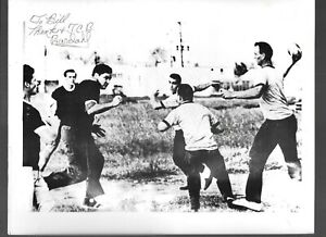 RARE ELVIS CANDID PHOTO PLAYING BALL MEMPHIS 1959 SIGNED BY HIS FRIEND 8X10