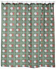 "Carnation Home Fashions ""Poinsettia"" Fabric shower curtain CAR-FSC-POIN"