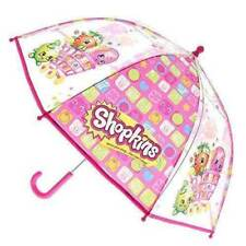 Shopkins Bubble Umbrella - Brand New - Kids Girls Pink See Through Transparent