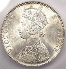 1891-B India Victoria Rupee KM-492 - ICG MS61 - Rare Certified BU UNC Coin