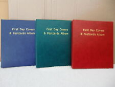 **New 100 First Day Covers & Postcards Album (Red). @ additional $2.00 back...