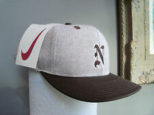 NIKE UNISEX Cap  Brown/White,  New Size: S/M  1996