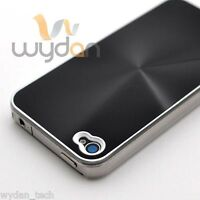 For iPhone 4S Brushed Black Aluminum Metal Plated Thin Hard Case Cover 5G w/ SP
