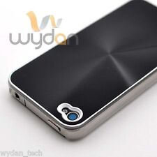 For iPhone 4 4S Brushed Black Aluminum Metal Plated Thin Hard Case Cover
