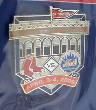 2009 CitiField 1st Boston Red Sox v NY N.Y. New York Mets Exhibit lapel pin