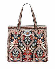 Johnny Was Maisie Every Day Tote Embroidered Handbag Purse Bag Denim BLACK New