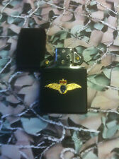 Army Military Regimental Lighter With Royal Navy Fleet Air Arm On front Black
