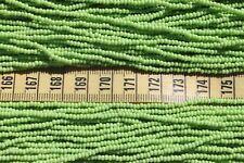 Opaque Pale Green 11/0 Czech Glass Seed Beads/ Hank
