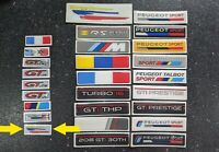 Peugeot Rallye steering wheel metallic stickers X2 - LOTS OF OTHERS AVAILABLE