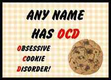 FUNNY ossessiva disordine Cookie GIALLO PERSONALIZZATA tavola PLACEMAT