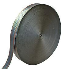 "AMP 5000lbs Rated Heavy Duty Industrial Nylon Webbing 1.75""x50 Yards Gray/Orange"
