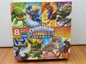 Skylanders Giants 8 Puzzle Set 100 Piece Jigsaw Puzzle New Sealed