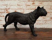 Figur Panther schwarz Raubkatze Deko 50 cm Skulptur Katze Puma
