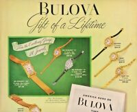 1948 Bulova Watch Vintage Print Ad Gift Of A Lifetime America's Greatest Watch