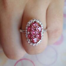 14K Solid Gold GF Rose Ruby Women's Wedding Jewelry Ring Size 10 Stamped 14K
