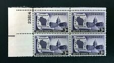 US Stamps #957 ~ 1948 WISCONSIN CENTENNIAL 3c Plate Block MNH