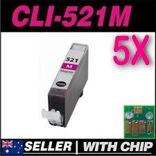5x Magenta Ink Canon CLI521 CLI521M MP620 MP630 MP640 MP980 MP990 MX860 MX870