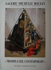 Affiche TROMPE-L'ŒIL CONTEMPORAIN Exposition Galerie Bouzet