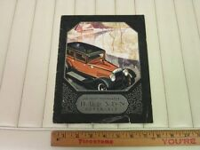 1928 HUDSON Super 6 Car Catalog Sales Brochure