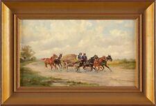 Bild Gemälde Öl/Lwd. Steinacker Alfred -  Ungarische Pferdegespanne - 605