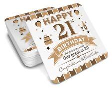 21st Birthday 1997 Happy Present Gift Idea For Men Him Male Keepsake Coaster