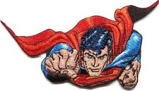 SUPERMAN flying at you EMBROIDERED IRON-ON PATCH *Free Shipping* dc comics PDC-4