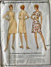 Vintage 1970s Vogue 1022 Guide to Perfect Fit of Fitted Garments Dress Size 12