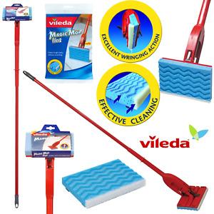 VILEDA Magic Flat Mop Sponge Refill Head 3D Floor Cleaning Pad Replacement