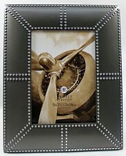 4x6 4 x 6 Pewter Silver Metal Photo Picture Frame Industrial Deco Style New
