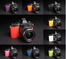 Handmade Real Half Leather Case Camera Case for Olympus OM-D E-M5 EM5 9 Colors