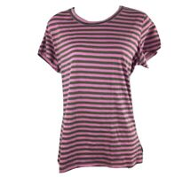 Columbia L Shirt Stripes Casual Crew Neck Short Sleeves Cotton Soft
