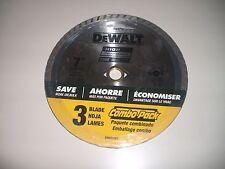 "3 Piece DEWALT DW4712B3 HIGH PERFORMANCE 7"" Diamond Masonry Saw Blade"