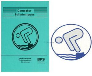 Schwimmabzeichen DJSP DSP Silber Abzeichen Rund + Pass 1x 5x 10x 15x 20x 25x