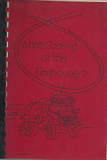 *MARSHALLVILLE OH 1976 WHAT'S COOKING AT THE FIREHOUSE COOK BOOK *OHIO FIRE DEPT