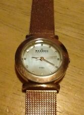 Vtg Skagen Denmark 107SRRD ladies watch, Running with new Battery and crystal C