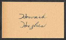 Howard Hughes Autograph Reprint On Genuine Original Period 1930s 3X5 Card